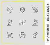 astronomy line icon set milky...   Shutterstock .eps vector #1015818235
