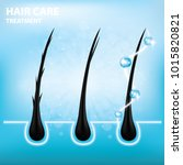 hair care   prevent split ends... | Shutterstock .eps vector #1015820821