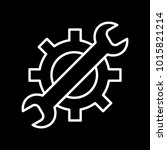 wrench and gear vector icon  a...