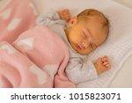 cute baby portrait. newborn... | Shutterstock . vector #1015823071