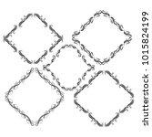 set of vector vintage frames on ... | Shutterstock .eps vector #1015824199