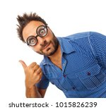 young man with expression of ok ... | Shutterstock . vector #1015826239