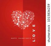 love happy valentines day stars ... | Shutterstock .eps vector #1015836259
