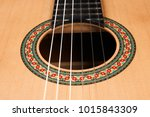 acoustic guitar with nylon... | Shutterstock . vector #1015843309