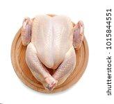 raw chicken on wooden cutting... | Shutterstock . vector #1015844551