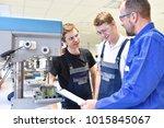 trainer and apprentice in... | Shutterstock . vector #1015845067