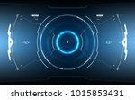 sci fi futuristic glowing hud... | Shutterstock .eps vector #1015853431