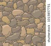 rock stone wall seamless... | Shutterstock .eps vector #1015857751