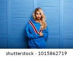 fashionable young beautiful... | Shutterstock . vector #1015862719
