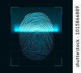 fingerprint scanning concept.... | Shutterstock . vector #1015866889