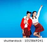 best friends teenage school... | Shutterstock . vector #1015869241