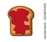 toast with jam icon vector...   Shutterstock .eps vector #1015876339