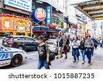 new york city  usa   october 28 ... | Shutterstock . vector #1015887235