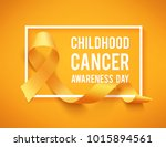 realistic gold ribbon ... | Shutterstock .eps vector #1015894561
