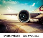 aircraft jet engine turbine wing | Shutterstock . vector #1015900861