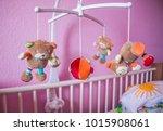 baby musical animal mobile... | Shutterstock . vector #1015908061