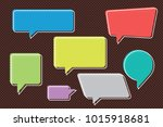 speech bubbles set of inverted... | Shutterstock .eps vector #1015918681