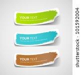colorful label paper brush... | Shutterstock .eps vector #101592004