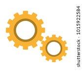 isolated gear design | Shutterstock .eps vector #1015922584