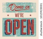 open vintage signage vector | Shutterstock .eps vector #1015923031