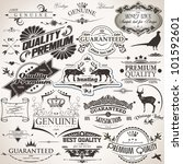 set of vintage design elements | Shutterstock .eps vector #101592601