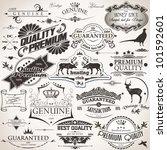 set of vintage design elements | Shutterstock .eps vector #101592601