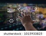 businessman using smart... | Shutterstock . vector #1015933825