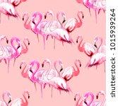flomingo  an exotic bird.... | Shutterstock . vector #1015939264