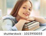 relaxed student. beautiful... | Shutterstock . vector #1015950055