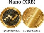 set of physical golden coin... | Shutterstock .eps vector #1015953211