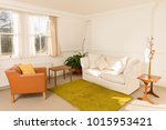 cozy living room surrounded by... | Shutterstock . vector #1015953421