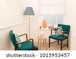 pair of vintage wooden... | Shutterstock . vector #1015953457