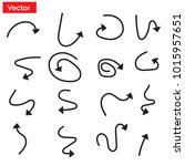 arrow set icon. | Shutterstock .eps vector #1015957651