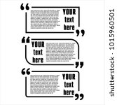 quote box vector set on a white ... | Shutterstock .eps vector #1015960501