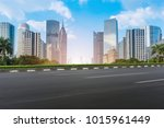 guangzhou city square road and... | Shutterstock . vector #1015961449