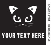 cat face character with text... | Shutterstock .eps vector #1015965409