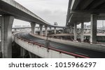 aerial view of highway and... | Shutterstock . vector #1015966297