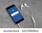 bangkok   jan 10  iphone6s open ... | Shutterstock . vector #1015983061