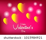 valentine s day abstract... | Shutterstock .eps vector #1015984921