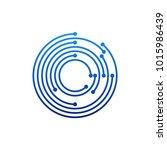 circular logo icon. link icon... | Shutterstock .eps vector #1015986439