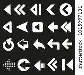 set of arrows vector with black ...   Shutterstock .eps vector #1015997131