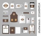 corporate identity template.... | Shutterstock .eps vector #1016004514