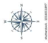 wind rose vector illustration.... | Shutterstock .eps vector #1016011897