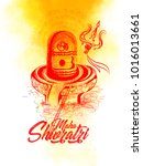 shivratri illustration of lord... | Shutterstock .eps vector #1016013661