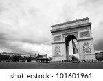 arc de triumph is the one of... | Shutterstock . vector #101601961