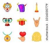 charm icons set. cartoon set of ...