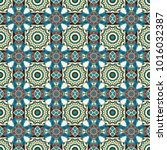 circular abstract floral... | Shutterstock . vector #1016032387