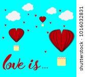 paper heart for valentantine's... | Shutterstock .eps vector #1016032831