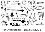 doodle hand drawn vector arrows | Shutterstock .eps vector #1016043271