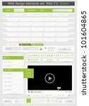 web design template set 2.0.... | Shutterstock .eps vector #101604865